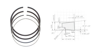 PISTON RING 3406/3406B/3408/31412  OEM.  1W8922