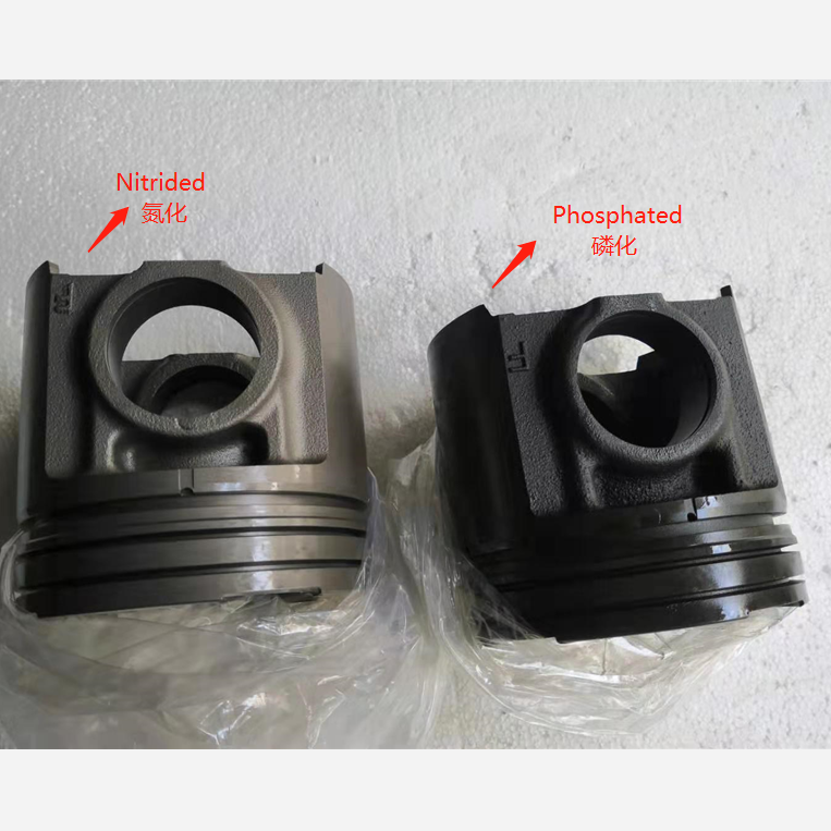 KOMATSU S6D125,PC400-5,S6D125-4 cast iron phosphated/nitrided without hole near the pin piston 